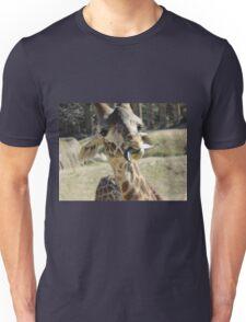 Giraffe At The Zoo Unisex T-Shirt