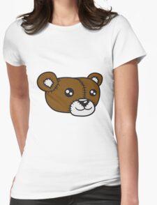 face scalp sweet cute teddy bear Womens Fitted T-Shirt