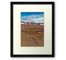 Snowy mountains. crack from an earthquake. Russia, Siberia, Altai mountains Framed Print