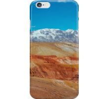 Deposit of colorful clay in the Altai Mountains or Mars valley, Kizil-Chin iPhone Case/Skin