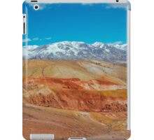 Deposit of colorful clay in the Altai Mountains or Mars valley, Kizil-Chin iPad Case/Skin