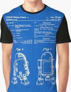 R2D2 Patent - Blueprint Graphic T-Shirt