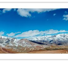 Snowy mountains. crack from an earthquake. Russia, Siberia, Altai mountains Sticker