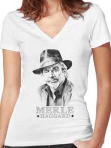 Country Man, Haggard Women's Fitted V-Neck T-Shirt