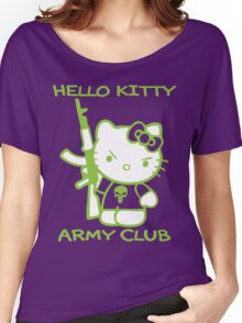 Hello Kitty Army Club Women's Relaxed Fit T-Shirt