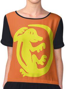 Orange Iguanas Chiffon Top