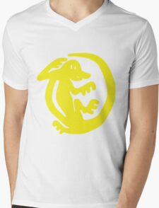 Orange Iguanas Mens V-Neck T-Shirt