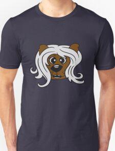 face head girl woman female long hair nice pretty sitting Teddy Bear comic cartoon sweet cute Unisex T-Shirt