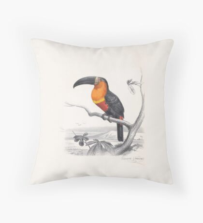 Ariel Toucan by E. Travies Throw Pillow