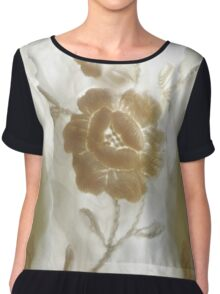 White flower with Ghost Guardians. Women's Chiffon Top