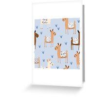 Alpaca Greeting Card