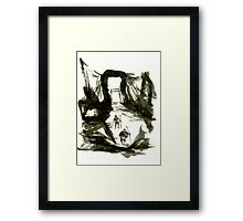 Sumi-E Painting - Gate Framed Print