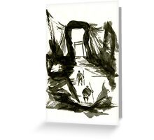 Sumi-E Painting - Gate Greeting Card