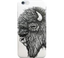 Bison profile in ink iPhone Case/Skin