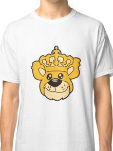 face head king crown old grandpa sitting Teddy comic cartoon sweet cute Classic T-Shirt
