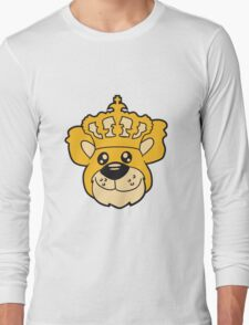 face head king crown old grandpa sitting Teddy comic cartoon sweet cute Long Sleeve T-Shirt