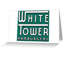 White Tower Hamburger Logo Greeting Card