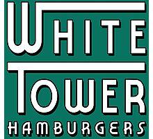 White Tower Hamburger Logo Photographic Print