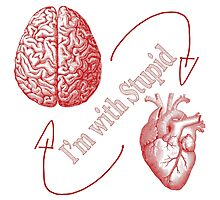 Heart V Brain: Stupid Photographic Print