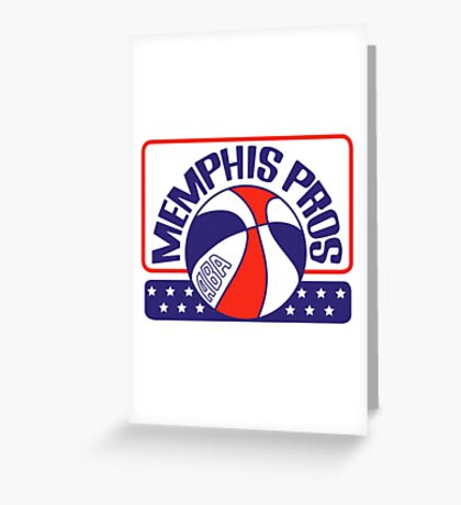 DEFUNCT - MEMPHIS PROS Greeting Card