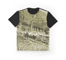 Temple of Apollo and Theatre, Delphi 1960, Yellow-toned Graphic T-Shirt