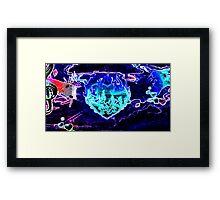 Blue Flaming Heart Framed Print