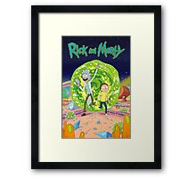 Rick and Morty - Portal Framed Print