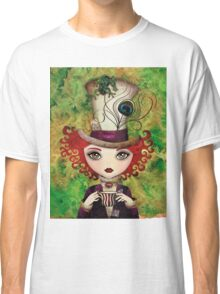 Lady Hatter (w/background) Classic T-Shirt