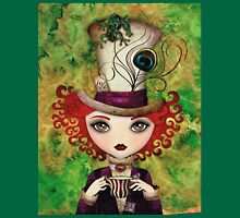 Lady Hatter (w/background) Unisex T-Shirt