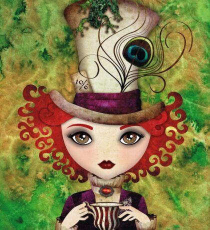 Lady Hatter (w/background) Sticker