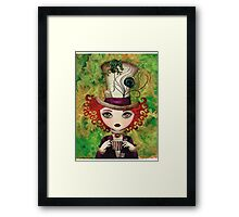 Lady Hatter (w/background) Framed Print