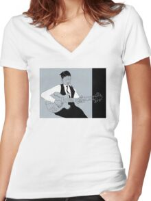 blues #7 Women's Fitted V-Neck T-Shirt
