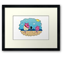 PiGgy on Vacation! Framed Print