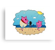 PiGgy on Vacation! Canvas Print