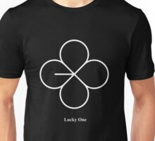 lucky one white Unisex T-Shirt