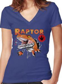 Ghost World raptor Women's Fitted V-Neck T-Shirt