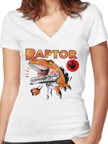 Ghost World raptor Women's Fitted V-Neck T-Shirt