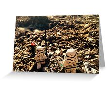 Lego Star Wars Stranded Stormtroopers Minifigure  Greeting Card