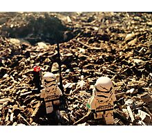 Lego Star Wars Stranded Stormtroopers Minifigure  Photographic Print