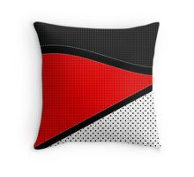 Red, Black, and White Throw Pillow