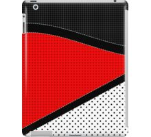 Red, Black, and White iPad Case/Skin
