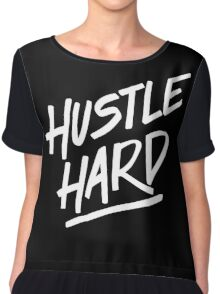 Hustle Hard - White Chiffon Top