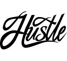 Hustle Torn - Black Photographic Print