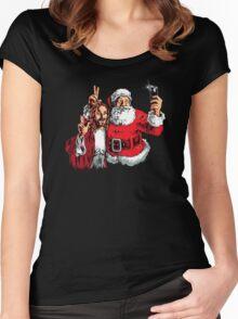 Jesus Santa Selfie Women's Fitted Scoop T-Shirt