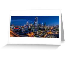Downtown Dallas at Night (Arts District View) Greeting Card