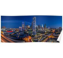Downtown Dallas at Night (Arts District View) Poster