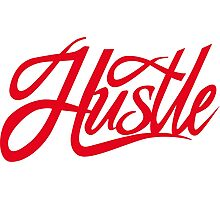 Hustle Torn - Red Photographic Print