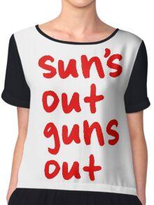 Sun's Out Guns Out Chiffon Top