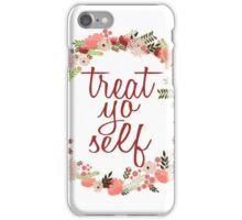 Treat Yo Self Floral Wreath iPhone Case/Skin