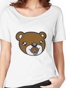 face head baby pacifier diaper child sweet cute small comic cartoon teddy bear Women's Relaxed Fit T-Shirt